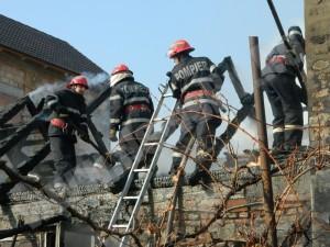 FOTOGALERIE Incendiu în Codlea