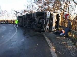 """Accident pe DN 13 – """"Drumul Morții"""""""