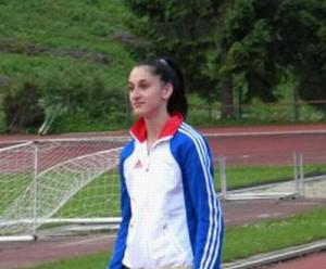Loredana Carășilă, locul 1 la cursa de 400 metri la atletism