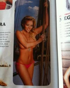 Delia Matache, pictorial sexy într-o revistă pentru bărbaţi