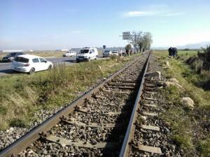 Cioban lovit de tren între Brașov și Cristian