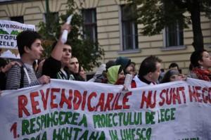 A șasea duminică de proteste împotriva exploatării de la Roșia Montană