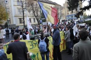 LIVETEXT, FOTO ȘI VIDEO de la protestul împotriva exploatării de la Roșia Montană
