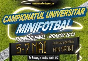 Astăzi: Finala Campionatului Universitar de Minifotbal