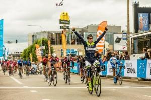 Ciclism: O nouă victorie de etapă pentru Eduard Grosu în Turul Lacului Qinghai