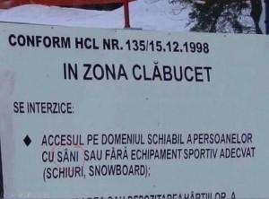 """La Predeal, """"persoanele cu sâni"""" au interzis pe pârtia Clăbucet"""