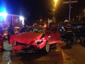 FOTO Accident cu șase victime pe strada Traian!