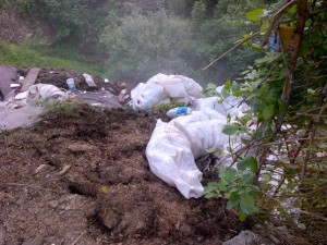 FOTO Alo, Poliția locală!!!! Uitați cine aruncă gunoaie în Șchei!