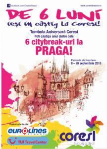 Tombola aniversară: Coresi te poate duce la Praga!