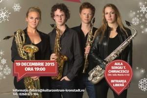 Berlage Saxophone Quartet, concert de Crăciun la Aula Universității