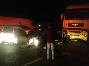 Accident grav, cu trei victime, pe DN13