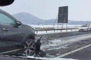 Accident pe DN1, la Mândra