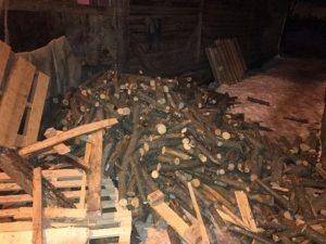 Zece tone de lemne pentru patru familii nevoiașe din județul Brașov