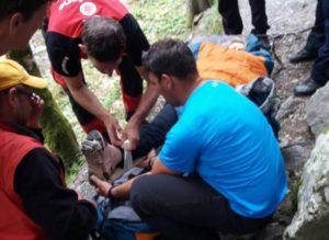 Turistă accidentată în Munții Făgăraș