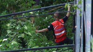 Salvamontiștii și jandarmii brașoveni, în acţiune pentru ecologizarea Muntelui Tâmpa