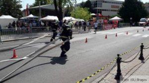 """Pompierii brașoveni locul al treilea la concursul internațional """"Cel mai puternic pompier"""""""