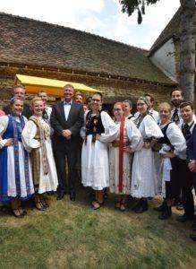 Preşedintele Klaus Iohannis, mesaj de unitate, la festivalul sașilor din Transilvania