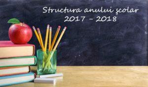 """Structura anului şcolar 2017-2018. Când sunt programate vacanţele şi """"Şcoala altfel"""""""