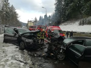 Încă un accident pe DN1, cu patru victime