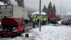 Accident pe DN1, la Predeal