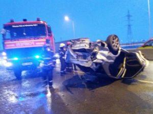 Accident la ieşirea din Braşov spre Sânpetru