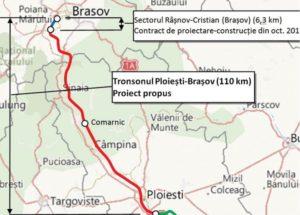 Autostrada Comarnic – Braşov. Se face altă documentaţie tehnică, cu un traseu uşor modficat
