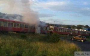 Incendiu la un tren de pasageri care circula între Brașov și Cristian