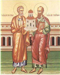Sfinţii Apostoli Petru şi Pavel. Mari învăţători ai credinţei şi slujitori ai bisericii