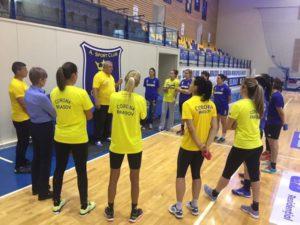 Handbalistele Coronei au făcut primul antrenament după vacanţă!