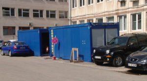 Spaţiile administrative ale Spitalului Judeţean se mută în containere modulare