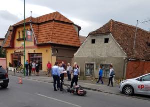 VIDEO Motociclist accidentat pe strada Avram Iancu