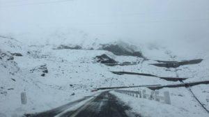Prima zăpadă, la Bâlea Lac