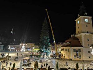 Bradul de Crăciun ajunge la Braşov, în această seară!