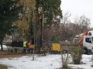Firma contractată de Primărie lucrează la studiul geo pentru parcare subterană din parcul central