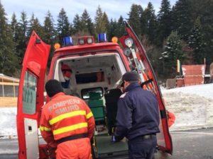 Accident de muncă la Zizin. Persoana prinsă sub un utilaj forestier a decedat