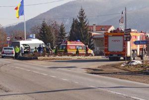 VIDEO Accident pe DN10, la intrarea în Teliu