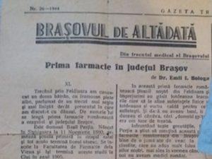 Prima farmacie românească în județul Brașov