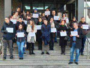 VIDEO Protest al procurorilor brașoveni față de modificările legilor Justiției