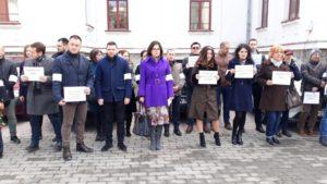 Un nou protest al magistraților brașoveni