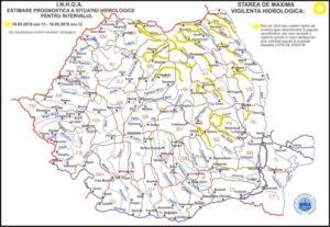 COD GALBEN de inundații, în bazinele hidrografice din județul Brașov!