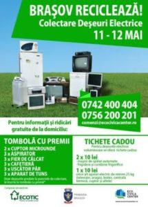A început campania de colectare a deșeurilor electrice și electrocasnice din Brașov