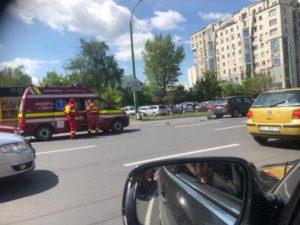 Accident rutier, acum, în Centrul Civic (FOTO)