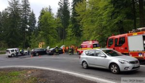 Accident rutier în apopiere de Cotul Donului, după ce un șofer a pătruns pe contrasens