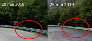 Plăcuțele reflectorizante de pe DN73A, furate la doar câteva zile după montarea lor