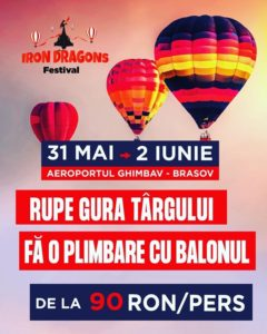 Show aerian spectaculos la Iron Dragons Festival, pe Aerodromul Ghimbav