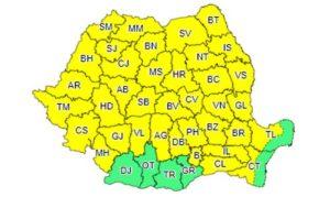O nouă avertizare meteo de ploi torențiale în județul Brașov