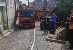 Acțiune a pompierilor, în Schei (FOTO+VIDEO)