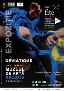 """Creaţii de artă textilă, în expoziția """"Deviations"""", la Muzeul de Artă"""