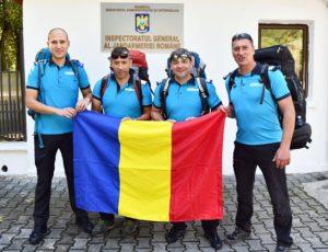 Patru jandarmi brașoveni vor arbora tricolorul în vârful Europei