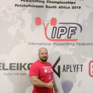 Jandarmul brașovean Daniel Bălăiță, la Campionatul Mondial de Powerlifting din Africa de Sud